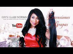 EXTESIONES DE GRAPA. NUEVO DISEÑO. Por DAYSI GLAM NORWAY. 4k Youtube, Videos, Youtubers, Youtube Movies