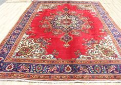 "1950's Authentic 8'x11'6"" Antique Persian Masterpiece Tabriz Oriental area rug #Handmadehandknottedwool"