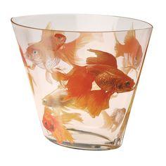 Koi Glass Vase at Signals Feng Shui Vase, Feng Shui Luck, Bottle Vase, Glass Vase, Bottles, Pisces Fish, Super Cool Stuff, Koi Art, Vases For Sale