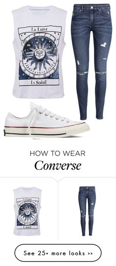 """Untitled #1046"" by pinkunicorn007 on Polyvore featuring H&M and Converse"