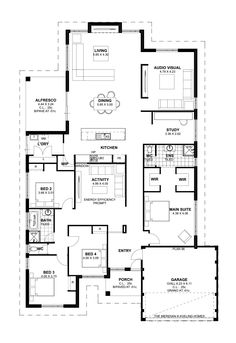 floor plan friday 4 bedroom theatre activity and study katrina chambers