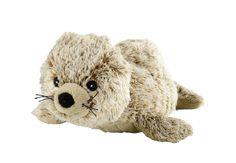 ideal für unterwegs die mini Wärmestofftiere von Warmies - hier die kleine Robbe