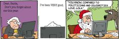 When you put it that way... | Read Lola #comics @ www.gocomics.com/lola/2014/12/22?utm_source=pinterest&utm_medium=socialmarketing&utm_campaign=social-pin | #GoComics #webcomic #Christmas