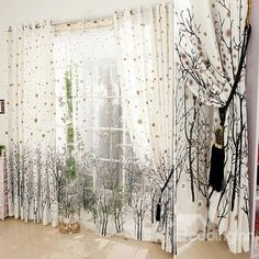 Vivid Tree Printing Custom Grommet Top Curtains on sale, Buy Retail Price Grommet Top at Beddinginn.com