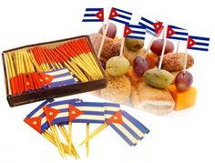 Check out the deal on Party picks with Cuban flag. 50  pieces at CubanFoodMarket.com