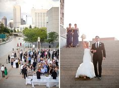 Monica + Kevin   Wedding Reception.  Photos by Gail Werner Photography.  #IndianaStateMuseum