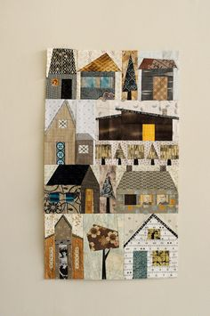 paper pieced, house quilt...