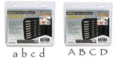 Metal Stamp Set-Metal Stamping Kit in Chalkboard Papyrus