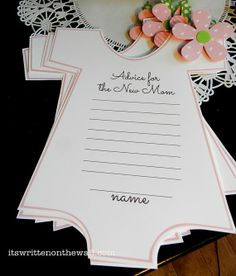 Girl Baby Shower Advice to a new Mom Printable  Party Game via Etsy