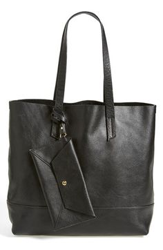 81dc3319c207 Free shipping and returns on POVERTY FLATS by rian Leather Tote at  Nordstrom.com.