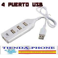 LADRON MULTIPUERTO USB 2.0 DE 4 PUERTOS - MULTIPLICADOR USB HUB SWITCH