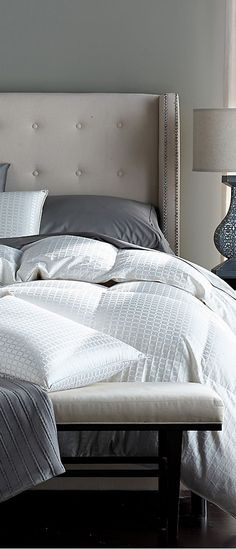amazing headboard and Legends Royal White Goose Down Comforter