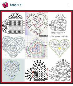 Crochet Heart Pattern crochet lace hearts with diagram kkkvkxd Crochet Diagram, Crochet Chart, Crochet Motif, Crochet Doilies, Crochet Flowers, Crochet Patterns, Crochet Pillow, Lace Patterns, Crochet Gifts
