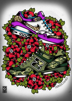 Air Max One X New Balance X Flowers by Derick James#sneakers #design