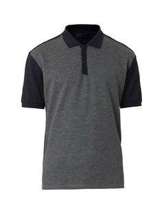 Cotton-piqué and wool polo shirt | Lanvin | MATCHESFASHION.COM
