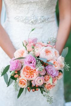 Rose-filled bouquet | Photography: Kristin Jordan Photography - kristinjordanphotography.com/  Read More: http://www.stylemepretty.com/new-england-weddings/2014/04/23/budget-diy-massachusetts-wedding-at-rockport-golf-club/