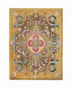 """Christie's auction link - """"An important Louis XV Savonnerie carpet"""", circa 1740-1760."""