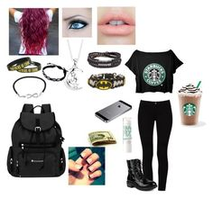 """""""Starbucks"""" by happy-thoughts ❤ liked on Polyvore featuring мода, STELLA McCARTNEY, Footnotes, Platadepalo, Jewel Exclusive и Sherpani"""