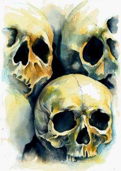 """"""" Orangelight skulls by Iris Illustration """" Skull Reference, Gcse Art Sketchbook, Skull Painting, Skull Artwork, Ap Studio Art, Skeleton Art, A Level Art, Skull And Bones, Art Inspo"""