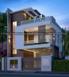 modern architectural house design House Outside Design, House Front Design, House Design Photos, Small House Design, Modern House Design, 3 Storey House Design, Bungalow House Design, D House, Facade House