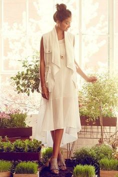 Leifsdottir Gauze Maxi Dress #anthropologie #ivory #white #dress #fashion #sheer
