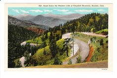 Boulder Colorado Vintage Postcard unused by PicturesFromThePast