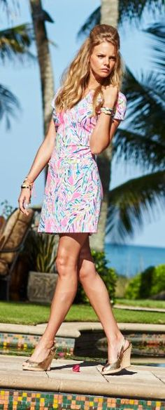 1a4a716ef64 Lilly Pulitzer Layton Dress in Palm Reader Lilly Pulitzer Prints