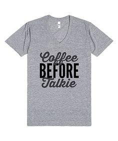 This Athletic Gray 'Coffee Before Talkie' Tee is perfect! #zulilyfinds