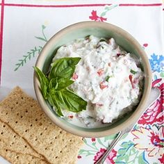 Ricotta Veggie Spread - great with cocktails or just as an afternoon snack.