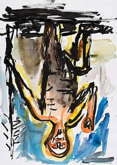 Untitled 1984 Georg Baselitz  www.artexperiencenyc.com