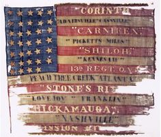 Flag of the Ohio Infantry. At Shiloh the regiment charged the . Flags Of Our Fathers, Civil War Flags, Union Flags, Union Army, War Image, America Civil War, Civil War Photos, Shiloh, Civilization