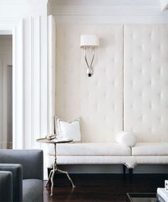 Love this sconce in polished nickel!  We can order for you.