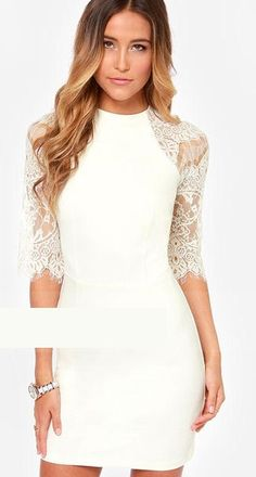 ceb66f29feb3e BB Dakota Princeton Ivory Lace Dress perfect for eloping