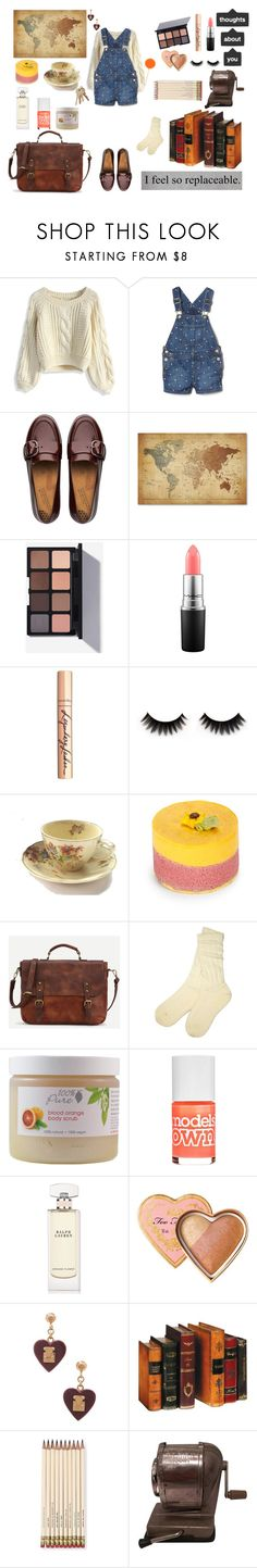 """""""Sweaters are for Cuties(That means you!)"""" by psycho-tsundere-fox ❤ liked on Polyvore featuring Chicwish, FitFlop, Trademark Fine Art, MAC Cosmetics, Charlotte Tilbury, Plaza Sweets, UGG, Models Own, Ralph Lauren and Too Faced Cosmetics"""