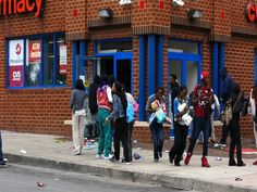 Baltimore Riots: Looting CVS drugstore. Ruining THEIR OWN neighborhoods. Businesses will move out, there'll be fewer JOBS, potential employers will go elsewhere, POVERTY INCREASES, so do DRUGS and CRIME.