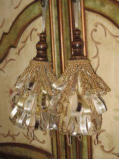 Decorative Tassels | Golden Walnut Decorative Tassel Set by Duvalls on Etsy