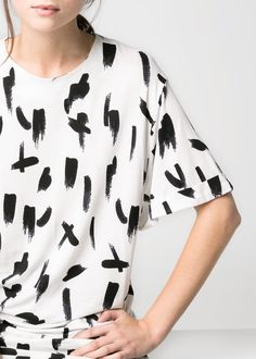 Paint print t-shirt // MANGO
