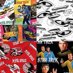 New fabric featuring the Star Trek television and movie characters and images