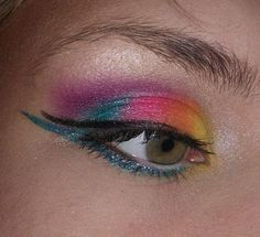 Rainbow Eye Makeup #eyeshadow #makeup #beauty