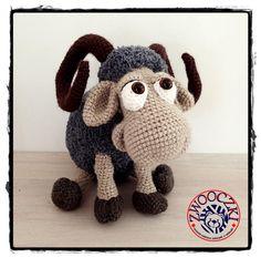 Crochet ram by Zwooczki on Etsy