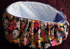 BACK RACK BASKET liner - Los Novios Skulls by rendachs, $84.00
