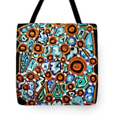 Connect The Dots Tote Bag  http://fineartamerica.com/products/connect-the-dots-sarah-loft-tote-..  #totebags #sarahloft #paintings #abstract