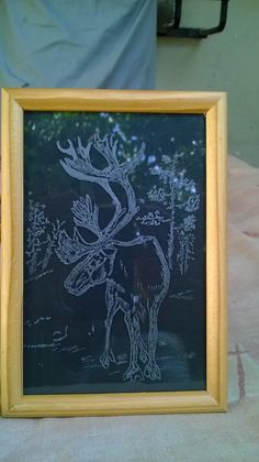 My work of engraving on Glass