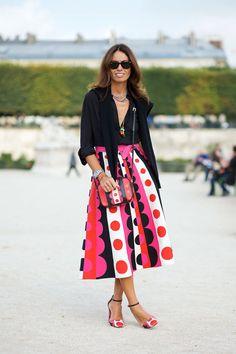 Viviana Valpolicella in a Valentino skirt and bag   - HarpersBAZAAR.com