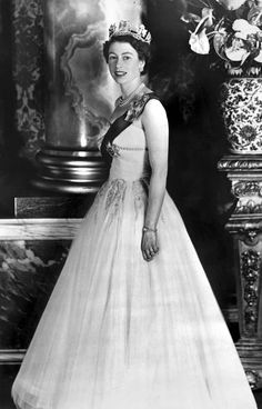A file picture taken in 1953 shows an official portrait of Britain's Queen Elizabeth II taken in an unknown location.