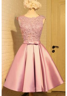 Sleeveless Prom Dresses, Homecoming Dress With Appliques, Short Homecoming Dress, Prom Dresses Pink Homecoming Dress Short Homecoming Dresses Lace Homecoming Dresses, Prom Party Dresses, Evening Dresses, Dress Prom, Graduation Dresses, Prom Gowns, Dresses For Teens, Short Dresses, Formal Dresses