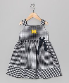 Take a look at this Navy Checker Michigan Madison Dress - Infant, Toddler & Girls by Garb on #zulily today!