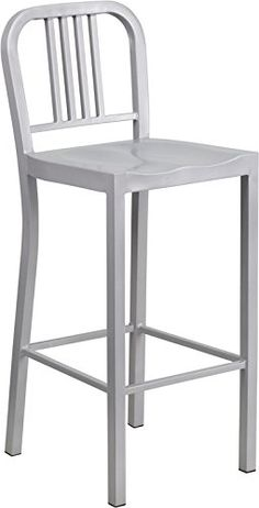 Flash Furniture Metal Bar Stool, 30-Inch, Silver