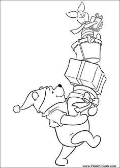 Pintar e Colorir Natal Amigos - Desenho 040