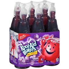 Kool-Aid Bursts Grape Soft Drink, 6.75 fl oz, 6 pack